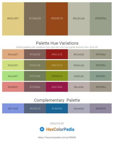 Palette image download - Burlywood – Dim Gray – Saddle Brown – Silver – Dark Sea Green