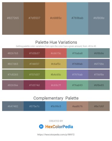 Palette image download - Dim Gray – Sienna – Peru – Cadet Blue – Slate Gray