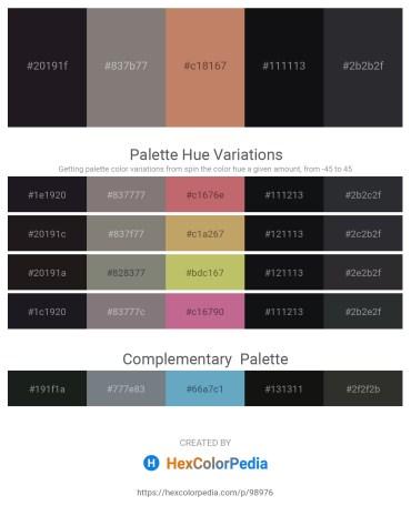 Palette image download - Black – Gray – Indian Red – Slate Gray – Dark Slate Gray