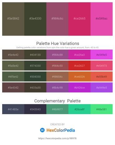 Palette image download - Dark Olive Green – Dark Olive Green – Indian Red – Medium Violet Red – Pale Violet Red