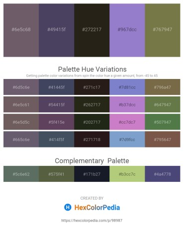 Palette image download - Dim Gray – Indian Red – Black – Medium Purple – Dark Olive Green
