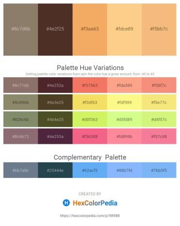 Palette image download - Gray – Peru – Sandy Brown – Navajo White – Sandy Brown