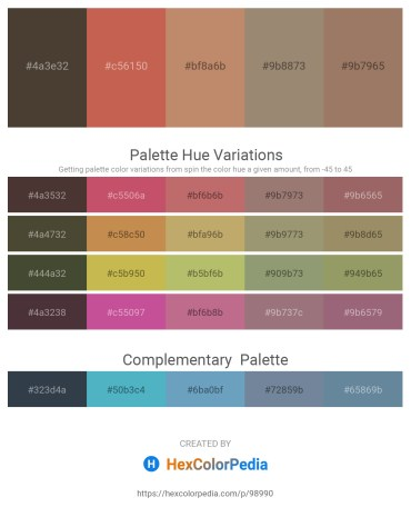 Palette image download - Dark Olive Green – Indian Red – Wheat – Gray – Rosy Brown