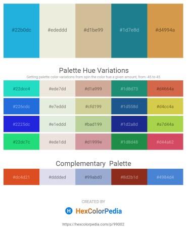 Palette image download - Light Sea Green – Beige – Tan – Light Sea Green – Peru