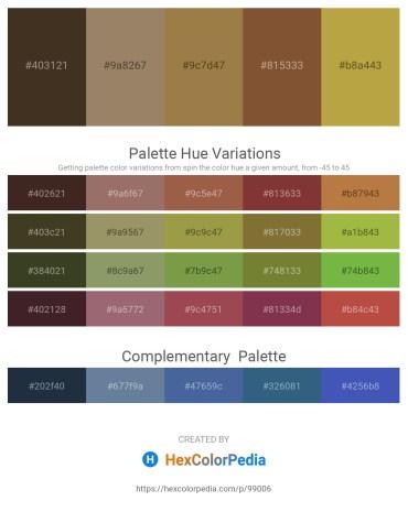 Palette image download - Dark Slate Blue – Rosy Brown – Sienna – Sienna – Peru