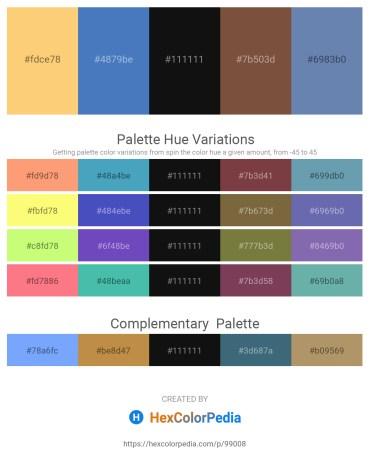 Palette image download - Gold – Steel Blue – Black – Dark Sea Green – Black