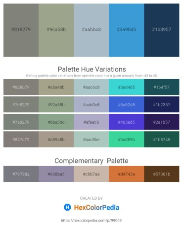 Palette image download - Gray – Dark Sea Green – Light Steel Blue – Royal Blue – Midnight Blue