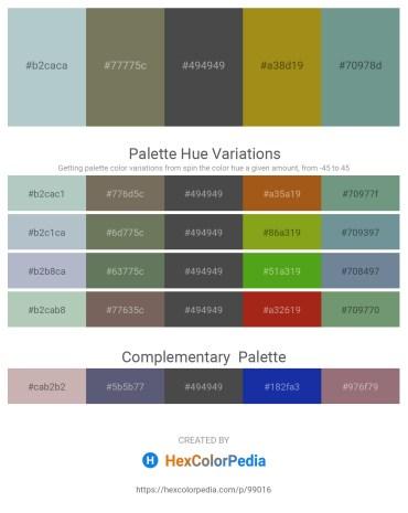 Palette image download - Light Steel Blue – Dim Gray – Dim Gray – Dark Goldenrod – Cadet Blue
