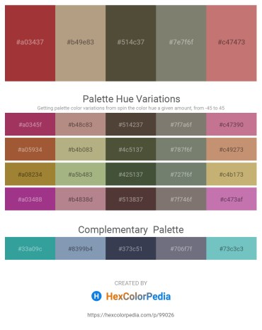 Palette image download - Brown – Rosy Brown – Dark Olive Green – Gray – Indian Red