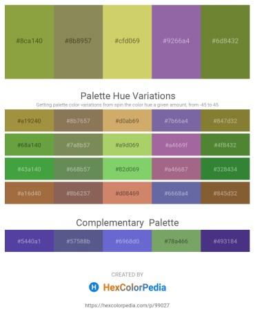 Palette image download - Yellow Green – Dark Khaki – Burlywood – Light Slate Gray – Dark Olive Green