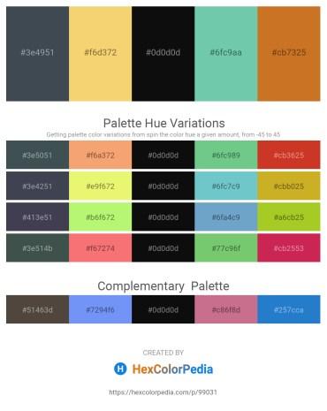 Palette image download - Dark Slate Gray – Khaki – Black – Medium Aquamarine – Chocolate