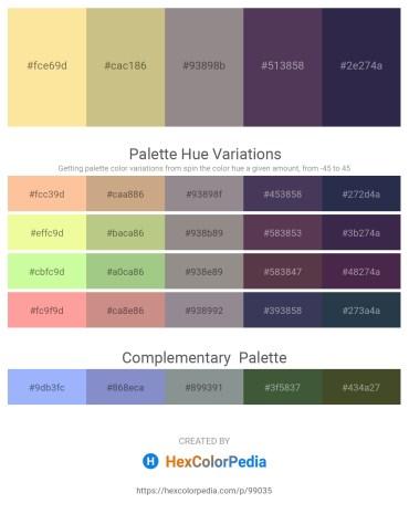 Palette image download - Navajo White – Tan – Gray – Dark Slate Blue – Dark Slate Blue