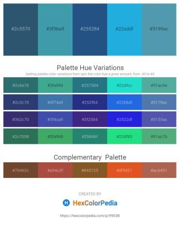 Palette image download - Dark Slate Blue – Steel Blue – Midnight Blue – Pale Turquoise – Steel Blue