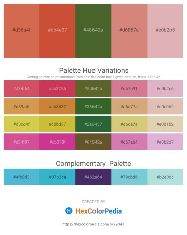 Palette image download - Indian Red – Indian Red – Dark Olive Green – Pale Violet Red – Dark Olive Green