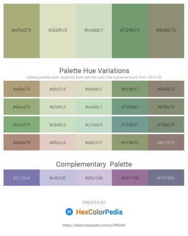 Palette image download - Dark Khaki – Tan – Dark Sea Green – Dark Sea Green – Gray