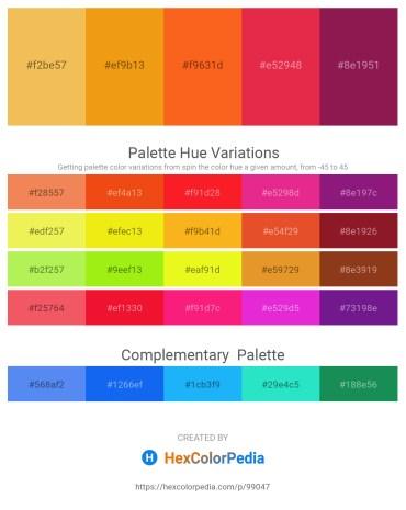 Palette image download - Sandy Brown – Orange – Orange Red – Crimson – Brown