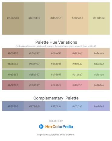 Palette image download - Light Steel Blue – Light Steel Blue – Tan – Pale Goldenrod – Tan