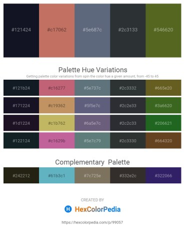 Palette image download - Black – Indian Red – Slate Gray – Dark Slate Gray – Dark Olive Green