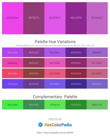 Palette image download - Violet – Sandy Brown – Medium Orchid – Dark Orchid – Medium Orchid