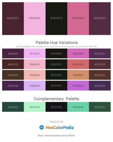 Palette image download - Saddle Brown – Violet – Black – Pale Violet Red – Burlywood