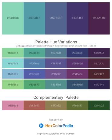 Palette image download - Medium Aquamarine – Cadet Blue – Slate Gray – Dark Slate Blue – Light Sea Green