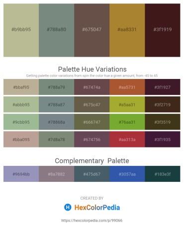Palette image download - Dark Sea Green – Slate Gray – Dim Gray – Peru – Dark Olive Green