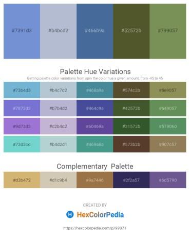 Palette image download - Medium Purple – Light Steel Blue – Steel Blue – Dark Olive Green – Dark Olive Green
