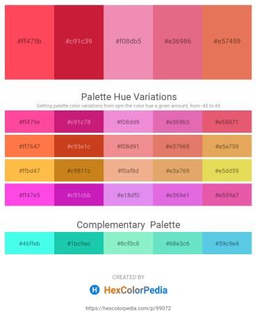 Palette image download - Tomato – Crimson – Light Coral – Pale Violet Red – Dark Salmon
