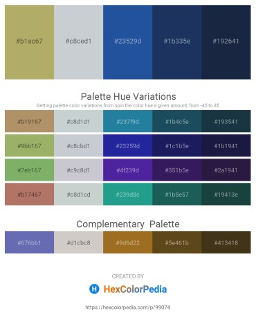Palette image download - Dark Khaki – Light Steel Blue – Midnight Blue – Midnight Blue – Midnight Blue