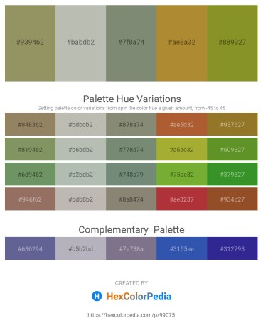 Palette image download - Dark Khaki – Silver – Gray – Peru – Olive Drab