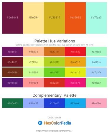 Palette image download - Saddle Brown – Navajo White – Goldenrod – Chocolate – Aquamarine