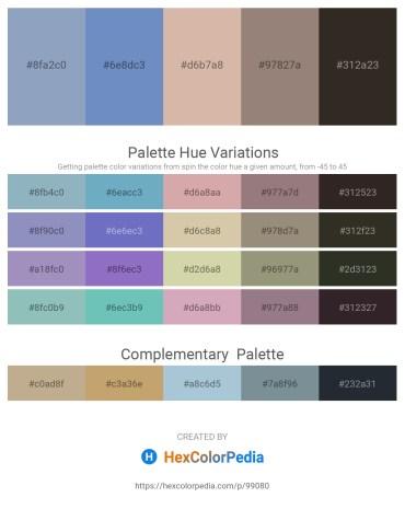 Palette image download - Light Slate Gray – Steel Blue – Tan – Gray – Black
