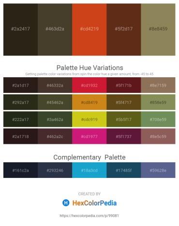 Palette image download - Black – Slate Gray – Chocolate – Saddle Brown – Dark Khaki