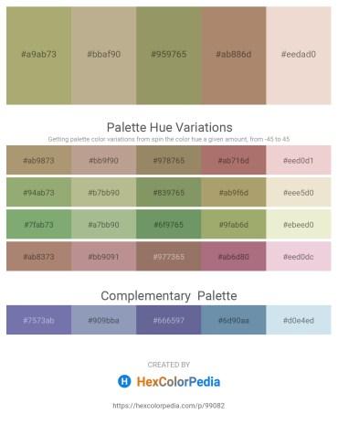 Palette image download - Dark Khaki – Dark Olive Green – Dark Khaki – Rosy Brown – Beige