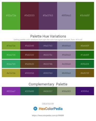Palette image download - Olive Drab – Brown – Dark Slate Blue – Light Slate Gray – Forest Green