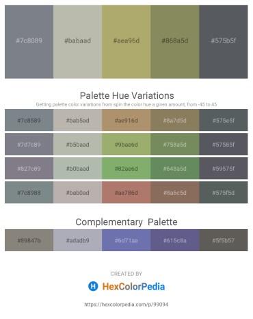 Palette image download - Slate Gray – Silver – Dark Khaki – Gray – Slate Gray