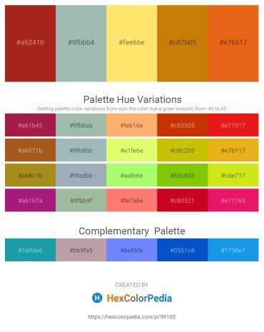 Palette image download - Firebrick – Dark Sea Green – Light Salmon – Dark Goldenrod – Chocolate