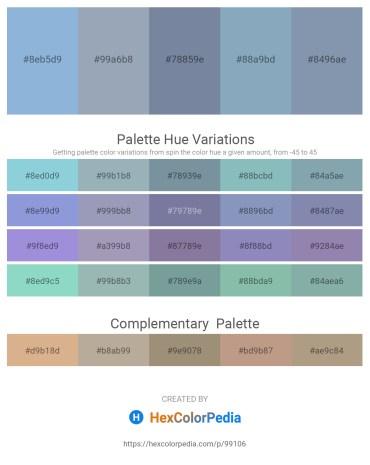Palette image download - Light Steel Blue – Light Slate Gray – Light Slate Gray – Cadet Blue – Light Slate Gray