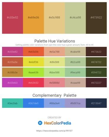 Palette image download - Indian Red – Goldenrod – Burlywood – Tan – Indian Red