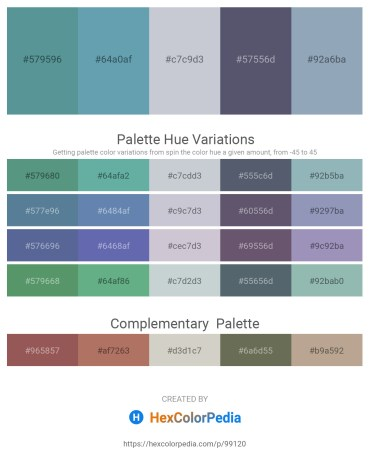 Palette image download - Cadet Blue – Cadet Blue – Light Steel Blue – Slate Gray – Light Slate Gray