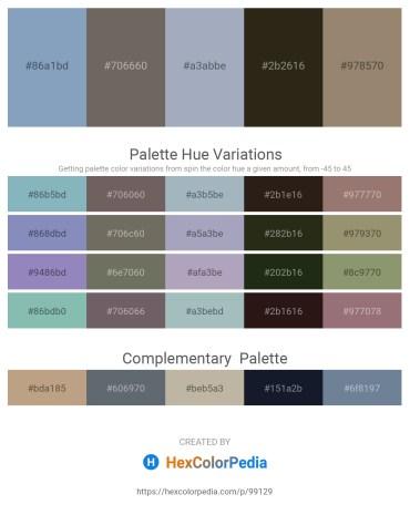 Palette image download - Cadet Blue – Dim Gray – Light Slate Gray – Slate Gray – Gray