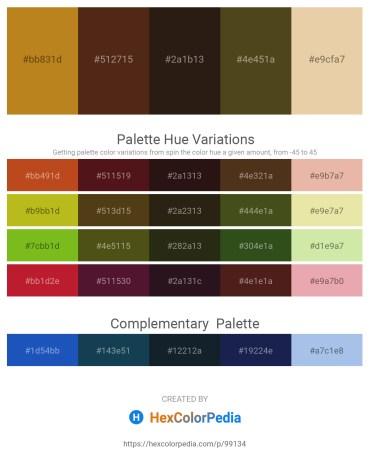 Palette image download - Chocolate – Saddle Brown – Burlywood – Dark Olive Green – Pale Goldenrod