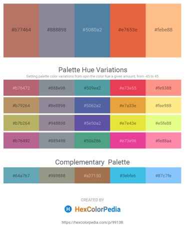 Palette image download - Indian Red – Light Slate Gray – Steel Blue – Chocolate – Light Salmon