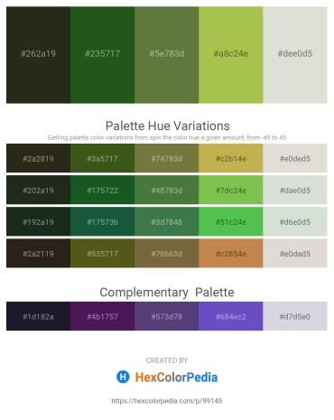 Palette image download - Dark Slate Gray – Forest Green – Dark Olive Green – Yellow Green – Gainsboro