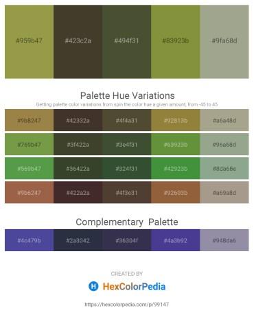 Palette image download - Dark Khaki – Light Gray – Dark Olive Green – Dark Olive Green – Dark Sea Green