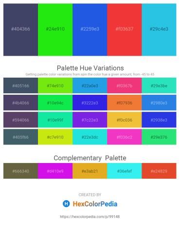 Palette image download - Dark Slate Gray – Lime – Royal Blue – Crimson – Turquoise