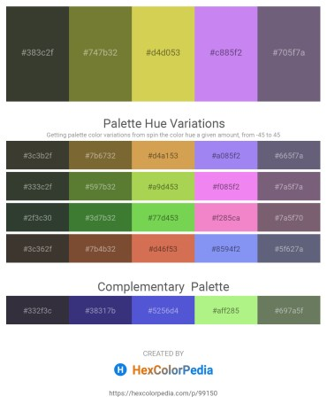 Palette image download - Dark Olive Green – Dark Olive Green – Yellow Green – Medium Slate Blue – Slate Gray