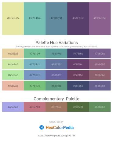 Palette image download - Pale Goldenrod – Medium Aquamarine – Cadet Blue – Dark Slate Blue – Dark Khaki