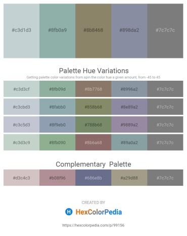 Palette image download - Light Steel Blue – Dark Sea Green – Gray – Light Slate Gray – Gray
