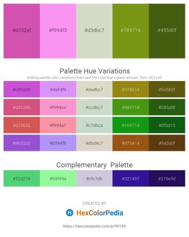 Palette image download - Pale Violet Red – Violet – Light Gray – Olive Drab – Olive Drab